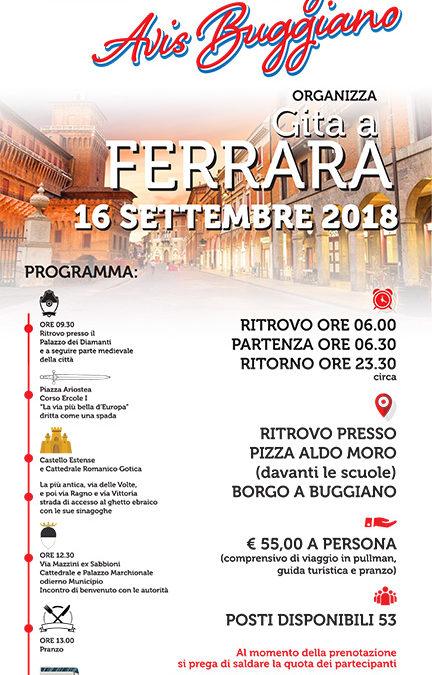 Gita a Ferrara 16 settembre 2018